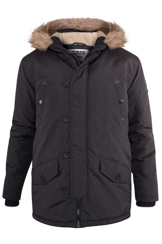 Plus Size Casual / Every Day D555 Black Dundee Parka Jacket
