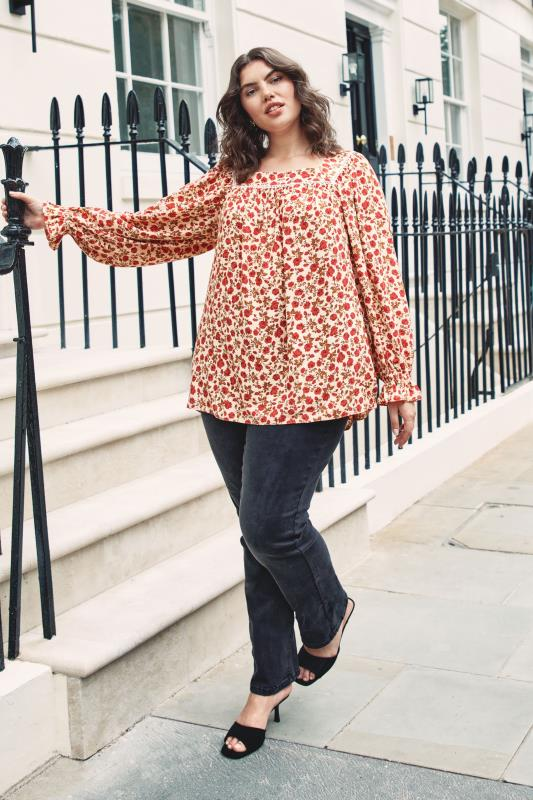 THE LIMITED EDIT Natural Square Neck Blossom Blouse_L1.jpg