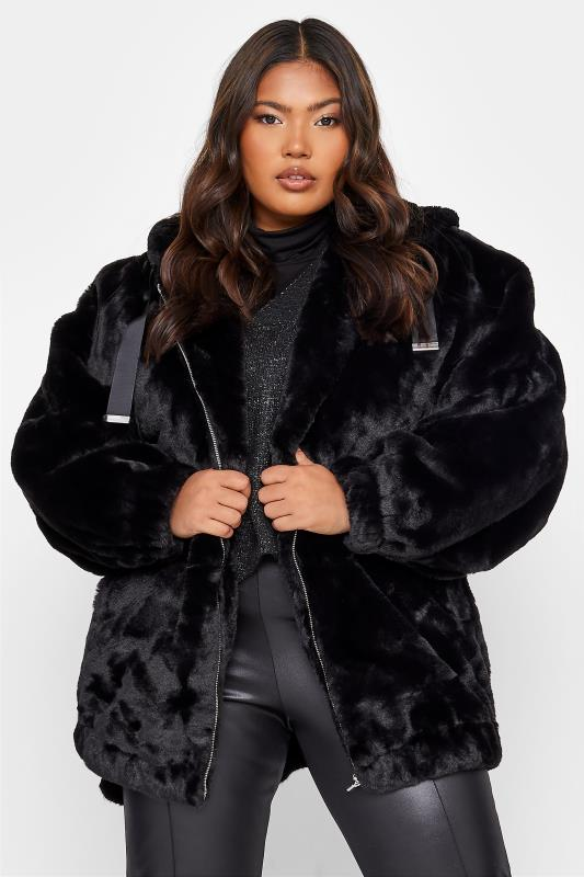 Black Faux Fur Oversized Jacket_5.jpg