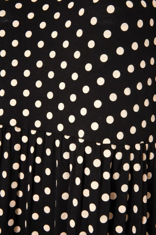 Black Polka Dot Tiered Midaxi Dress_S.jpg