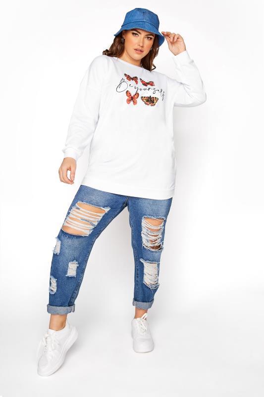 White Butterfly 'Be Yourself' Sweatshirt