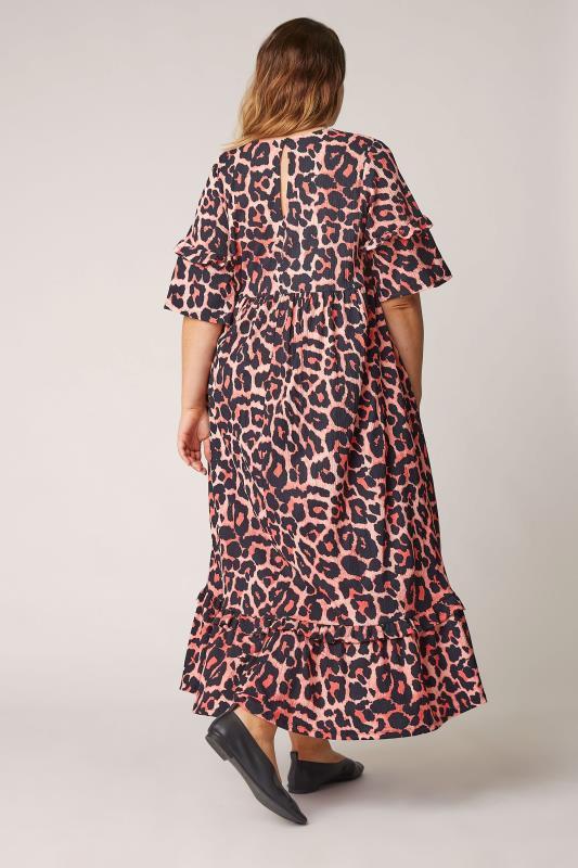 THE LIMITED EDIT Pink Leopard Print Smock Midaxi Dress_C.jpg
