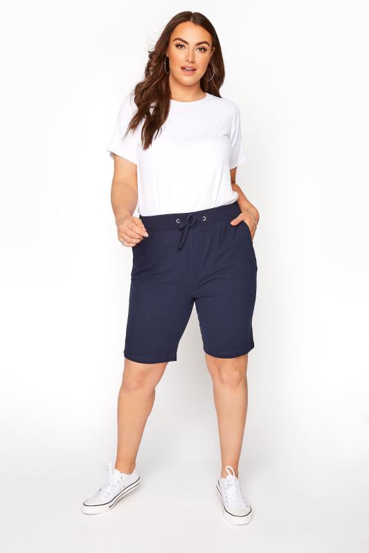 Navy Cool Cotton Shorts_B.jpg
