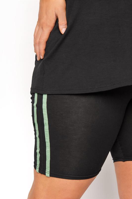 BUMP IT UP MATERNITY Black Stripe T-shirt & Shorts Set_D.jpg