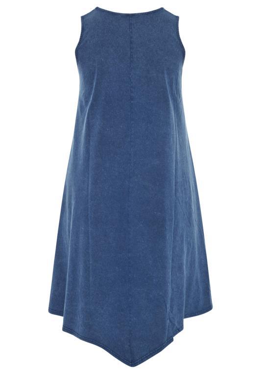 Blue Acid Wash Hanky Hem Sleeveless Dress_bk.jpg