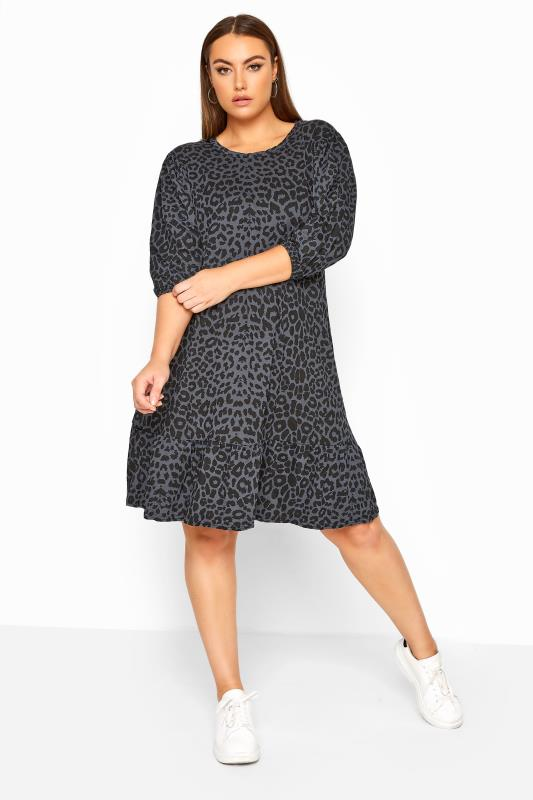 Casual Dresses LIMITED COLLECTION Grey Leopard Print Smock Dress