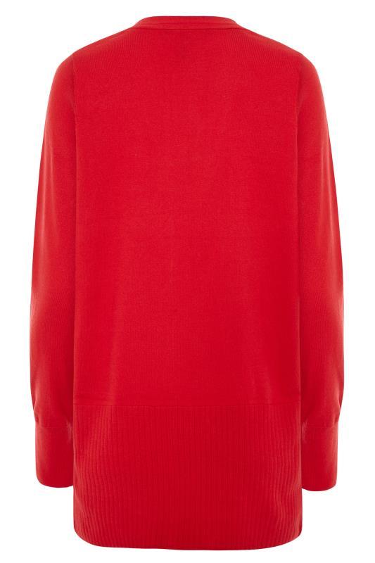 Red Cotton Ribbed Trim Cardigan_BK.jpg