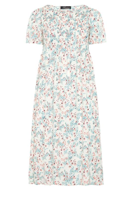 LIMITED COLLECTION White Floral Shirred Maxi Dress_f.jpg