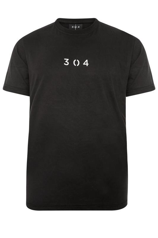 Tallas Grandes 304 CLOTHING Black Core T-Shirt