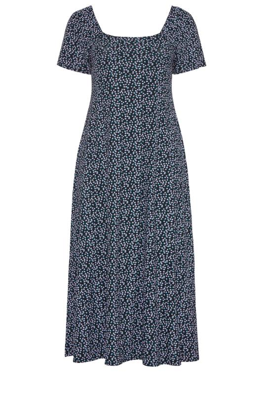 LIMITED COLLECTION Black Ditsy Floral Square Neck Maxi Dress_f.jpg