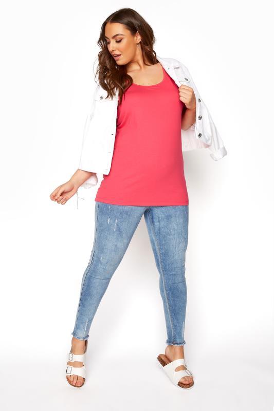 Coral Pink Vest Top