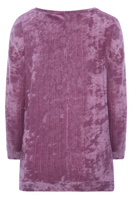 BUMP IT UP MATERNITY Purple Flannel Towelling Co-ord Lounge Sweatshirt
