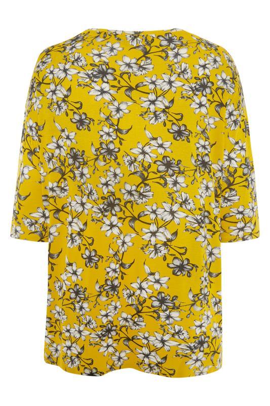 Yellow Floral Split Hem Tunic_BK.jpg