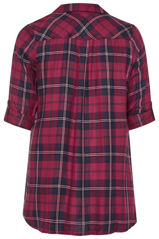 Purple Check Boyfriend Shirt
