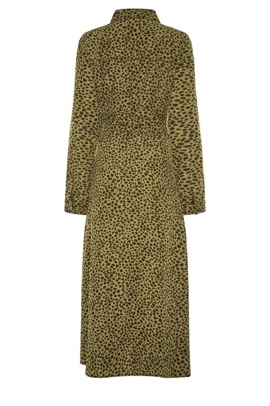 LTS Khaki Animal Print Shirt Midi Dress_BK.jpg