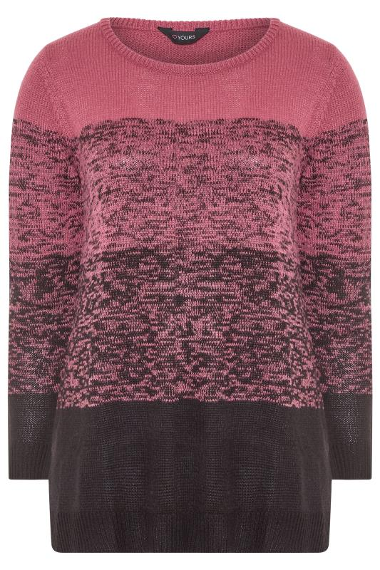 Pink Twist Colour Block Knitted Jumper