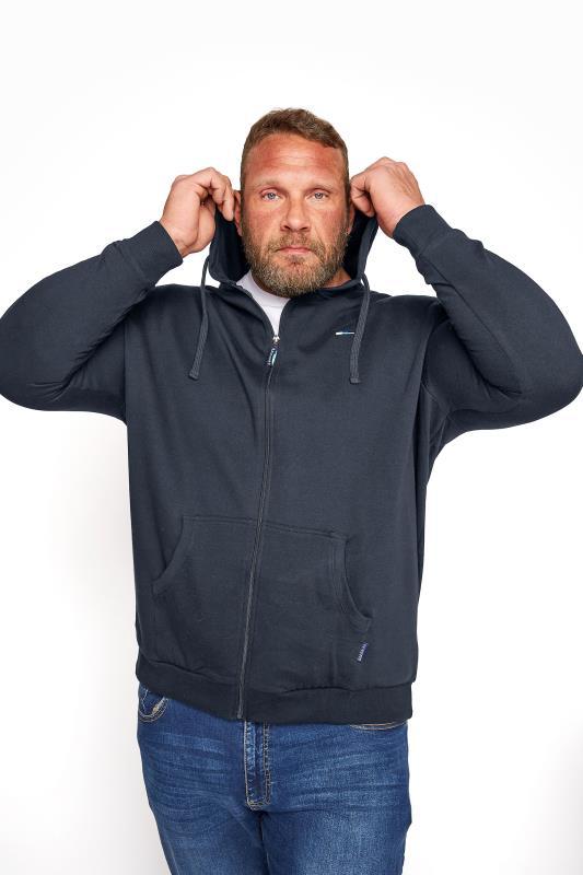 Men's Casual / Every Day BadRhino Navy Essential Zip Through Hoodie