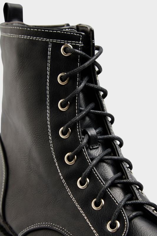 LIMITED COLLECTION Black Contrast Stitch Chunky Boots In Extra Wide Fit_E.jpg