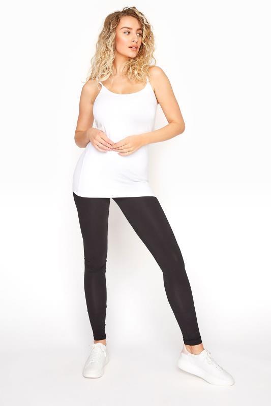 LTS White Cotton Stretch Cami