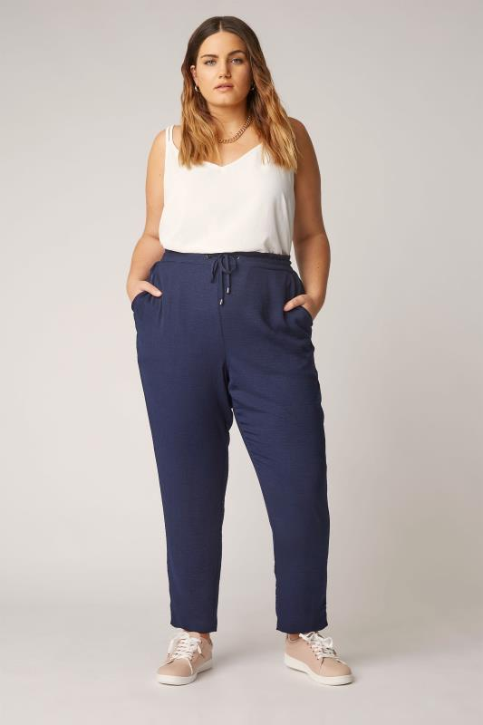 Plus Size  THE LIMITED EDIT Navy Slim Joggers