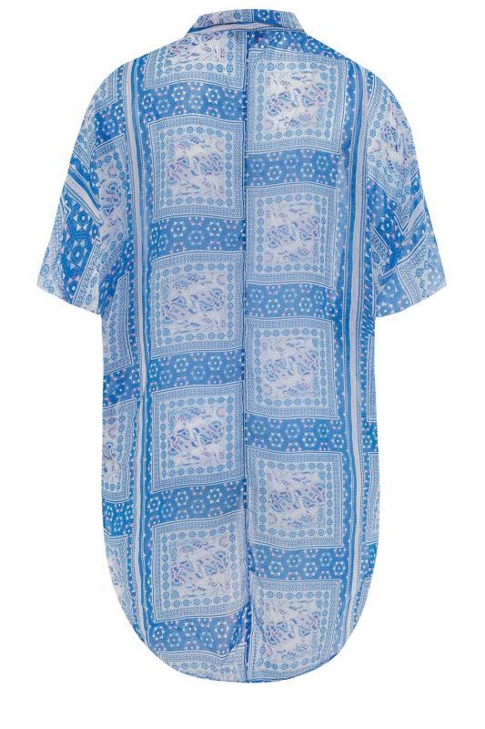 Blue Patchwork Batwing Shirt_BK.jpg