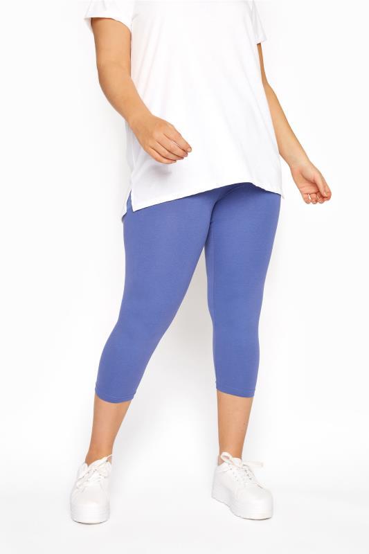 Denim Blue Cropped Leggings