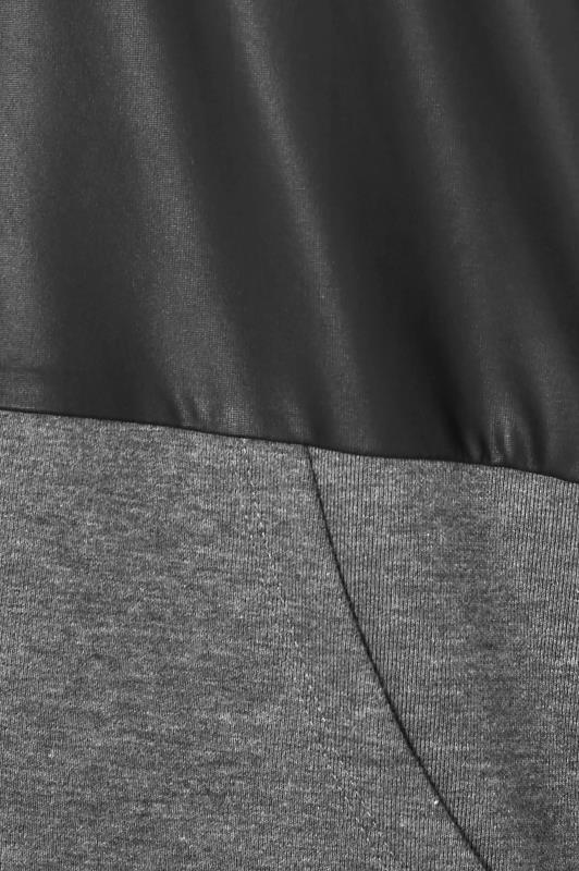 Black Colour Block Super Sweat PU Zip Hoodie_S.jpg