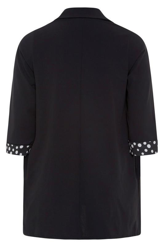 Black Polka Dot Roll Back Sleeve Blazer_BK.jpg