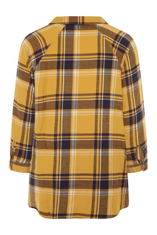 Mustard Yellow Check Raglan Boyfriend Shirt_BK.jpg