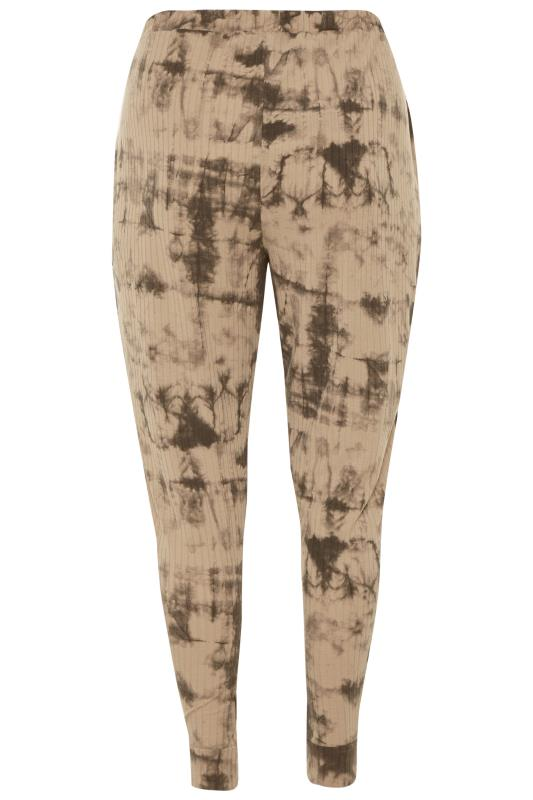 Stone Tie Dye Ribbed Co-ord Lounge Joggers