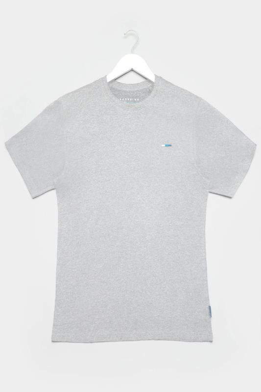 Men's T-Shirts Bestseller BadRhino Grey Marl Plain T-Shirt
