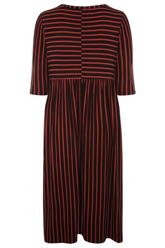 LIMITED COLLECTION Black & Rust Stripe Midaxi Dress_BK.jpg