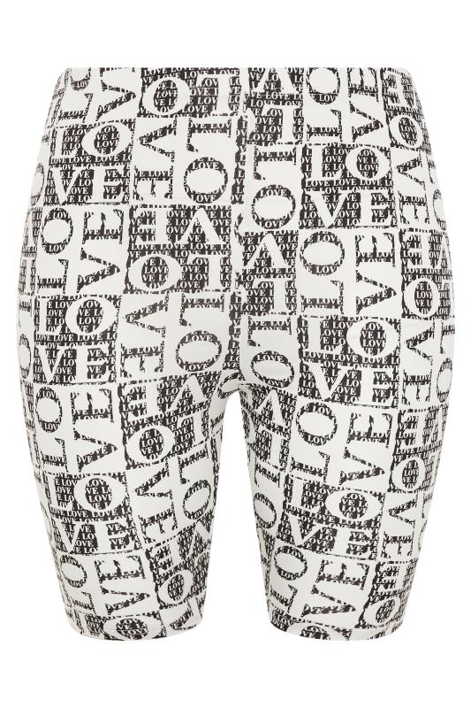 LIMITED COLLECTION Black 'Love' Printed Cycling Shorts_F.jpg