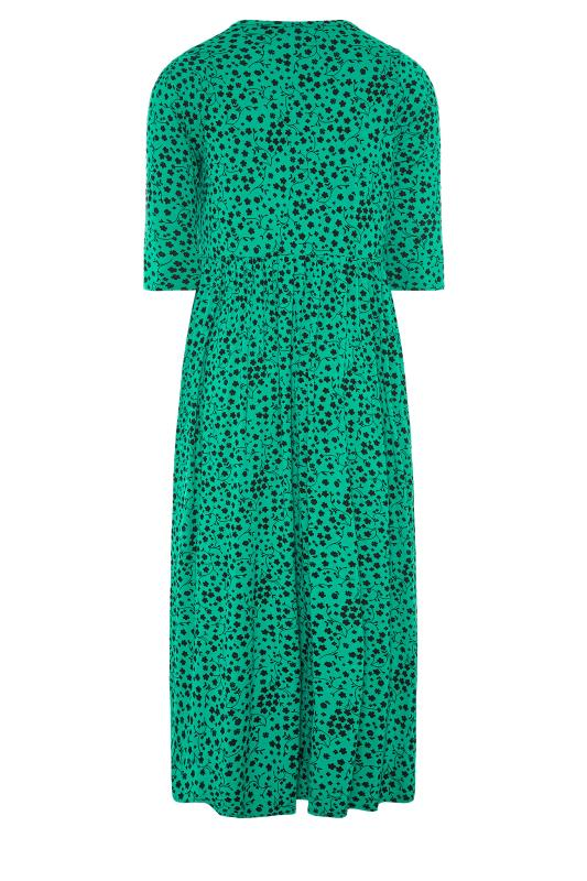 LIMITED COLLECTION Green Floral Button Midaxi Dress_BK.jpg