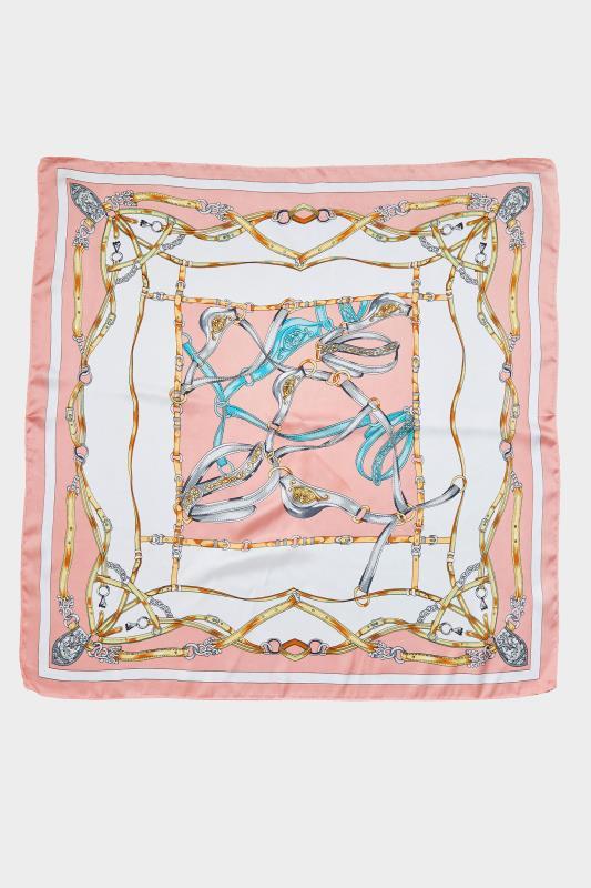 Pink Printed Satin Square Scarf_B.jpg