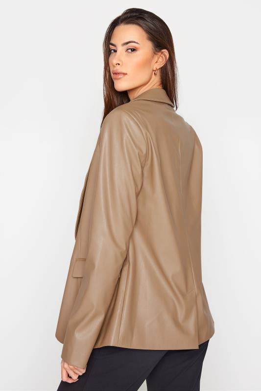 LTS Beige Faux Leather Blazer_C.jpg