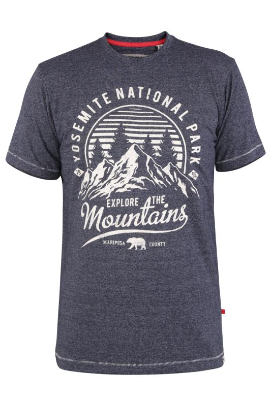 Men's  D555 Navy Yosemite Print T-Shirt