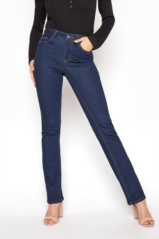 Deep Indigo Blue Ultra Stretch Bootcut Jeans_B.jpg