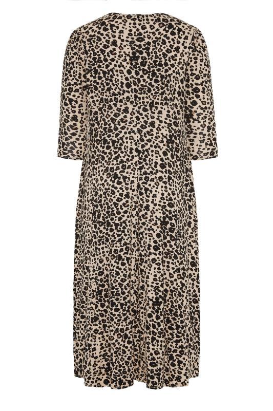 YOURS LONDON Beige Leopard Midaxi Split Dress_BK.jpg