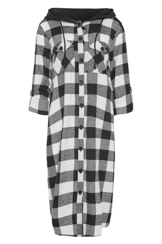 LTS Black Check Longline Hooded Shirt_F.jpg