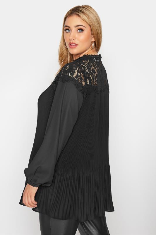 YOURS LONDON Black Lace Pleat Tunic_C.jpg
