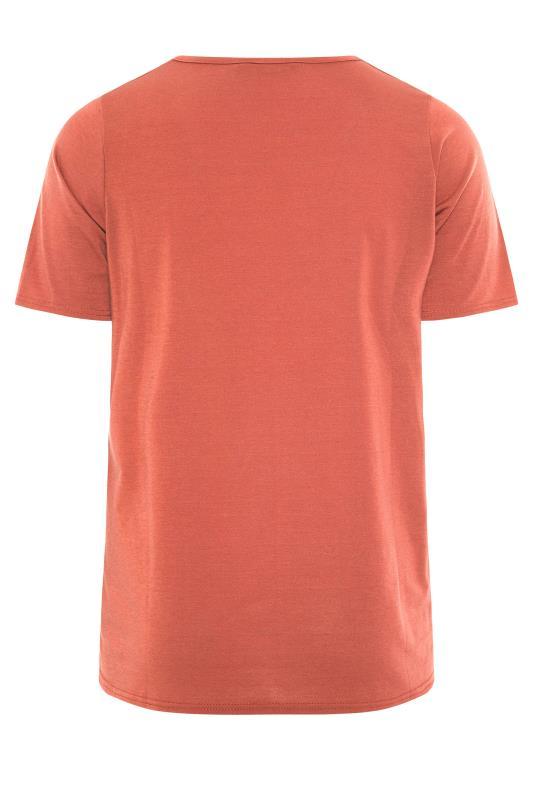 LIMITED COLLECTION Rust Heart Print T-Shirt_BK.jpg