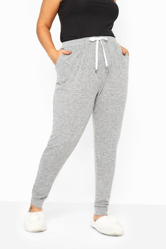 Grey Marl Jersey Lounge Pants
