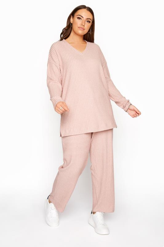 Pink Ribbed Soft Touch Trousers_A.jpg