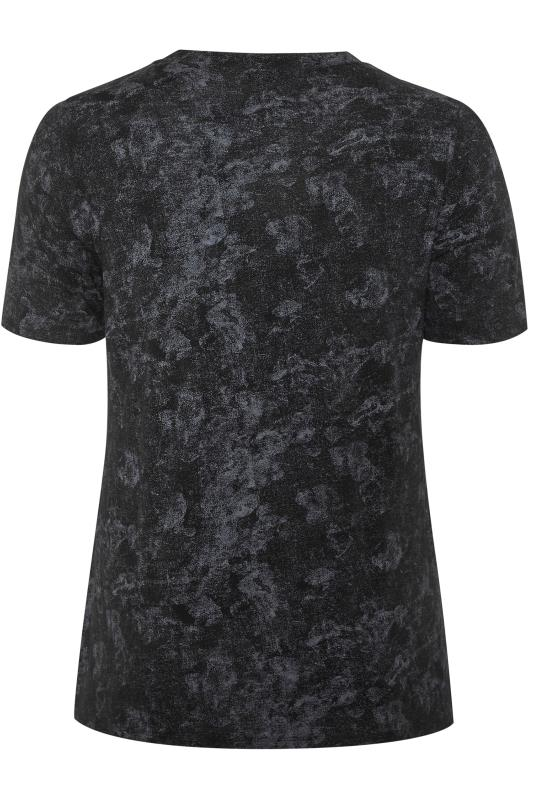 LIMITED COLLECTION Black & Grey Tie Dye T-Shirt