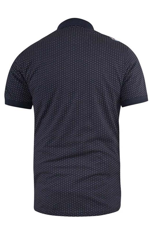 D555 Navy Auckland Printed Jersey Polo Shirt