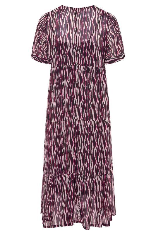 LIMITED COLLECTION Black Zebra Print Tiered Maxi Dress_BK.jpg