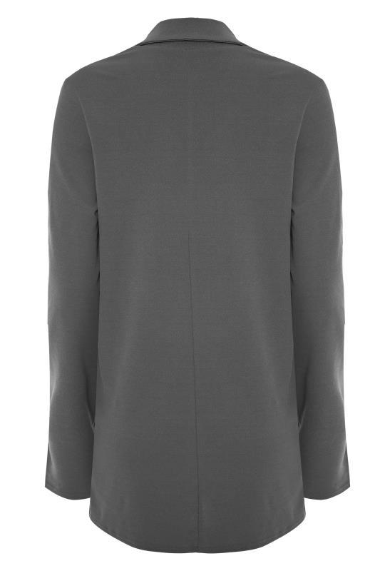 LTS Charcoal Grey Scuba Longline Blazer_bk.jpg
