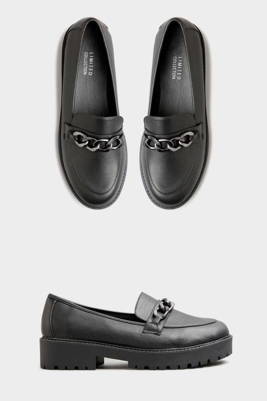 LIMITED COLLECTION Black Chunky Loafers In Extra Wide Fit_A.jpg