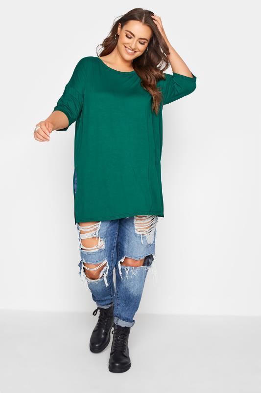 Emerald Green Oversized Jersey T-Shirt_B.jpg